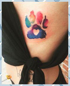 Trendy Tattoos, Feminine Tattoos, Small Tattoos, Tattoos For Women, Stylish Tattoo, Colorful Tattoos, Dog Tattoos, Animal Tattoos, Body Art Tattoos
