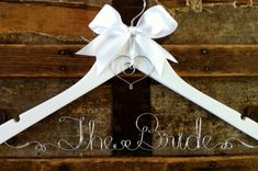 Personalized Bridal Hanger, Custom Wedding Dress Hanger, for Bride, a lovely gift for Bridesmaid or Graduate via Etsy