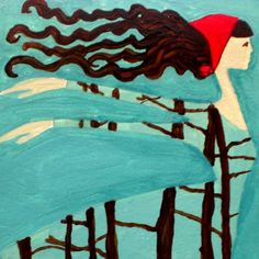 Flying Girl Through the Trees or Red Knows the Way by rowenamurillo,