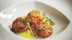 Spiced Chickpea Cakes With Quinoa Salad by Vivek Singh of Cinnamon Club