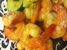 Garlic Honey Shrimp~Healthy is Easy! Always keep a bag of shrimp in your freezer for a last minute dinner! Minced garlic, a little Ginger, raw honey, lime juice, parsley, sea salt and a pinch cayenne. Sauté in grass fed butter or evoo. YUM.