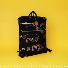 T H E C O P P E R C O L L E C T I O NThe pattern on this backpack is printed in the metallic shade of copper with a slight shimmer of nacre, on a black cotton base. Made in Finland. Black Cotton, Finland, Illustrator, Metallic, Copper, Shades, Base, Backpacks, Printed