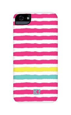 Hot pink stripes #iPhonecase