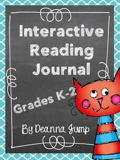Interactive Reading Journal Notebook for K-2 $  {Common Core RL.K.1, RL.K.2, RL.K.3, RL.K.4, RL.K.5, RL.K.6, RL.K.7, RL.K.9, RL.K.10, RL.1.1, RL.1.2, RL.1.3, RL.1.4, RL.1.5, RL.1.6, RL.1.7, RL.1.9, RL.1.10, RL.2.1, RL.2.2, RL.2.3, RL.2.4, RL.2.5, RL.2.6, RL.2.7, RL.2.9, RL.2.10}  #Kindergarten,  #First Grade, #Second Grade