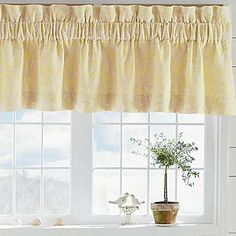 Jaden Window Coverings - jcpenney Above kitchen sink? Kitchen Window Curtains, Kitchen Valances, Valance Curtains, Window Coverings, Window Treatments, Above Cabinet Decor, Windows, Decorating Ideas, Furniture