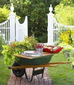 wheelbarrow table
