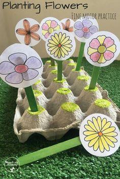 Flower Activities For Kids, Spring Activities, Toddler Activities, Time Activities, Outdoor Activities, Toddler Themes, Toddler Learning, Sensory Activities, Preschool Garden