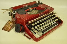 Collectible typewriter Erika 5 Red - very good condition