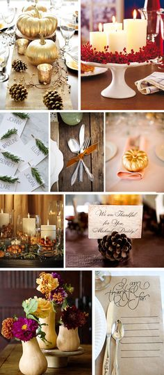 Hosting Thanksgiving this year? Check out these creative ideas for your mantle and table! {Sunnyslideup.com}