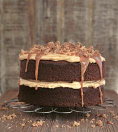 Gloriously Sticky Toffee Cake from Miranda Gore Browne's Bake Me a Cake as Fast as You Can. Sticky toffee pudding in a cake – need we say more? To serve as a pudding, warm the caramel for the topping gently to create a hot toffee sauce – serve with scoops of good-quality vanilla ice cream.