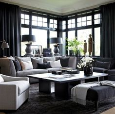 small living room furniture layout with fireplace Masculine Living Rooms, Home And Living, Living Room Decor, Home, Interior, Living Room Grey, Living Room Designs, Dream Living Rooms, Room