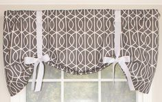 Sequence Tie-Up Curtain Valance Tie Up Valance, Tie Up Curtains, Kitchen Valances, Window Treatments, Indoor, Diy, House, Home Decor, Products