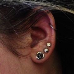 I like the rose and the simplicity of the three earrings! (Totally thinking way into this haha!)