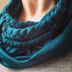 Old tshirt diy scarf inspiration