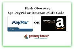 $50 Cash Weekend Flash Giveaway