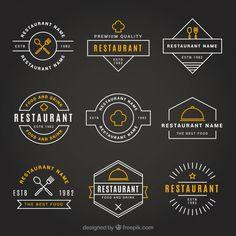 Más de un millón de vectores gratis, PSD, fotos e iconos gratis. Todos los recursos gratuitos exclusivos que necesitas para tus proyectos Logo Restaurant, Resturant Logo, Restaurant Vintage, Restaurant Design, Creative Logo, Design Pizzeria, Logos Vintage, Vintage Logo Design, Kitchen Logo