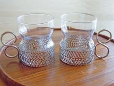 Vintage Iittala Tsaikka Tea Glasses Designed By Timo Sarpaneva