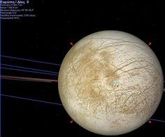 Δορυφόρος του Δία - Ευρώπη Planets, Celestial, Astronomy