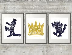 Where The Wild Things Are Print Set of 3 by PrintsAndPrintables
