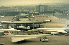 GLASGOW AIRPORT IS ACTUALLY IN PAISLEY- Three Concordes At Glasgow Airport (1983)