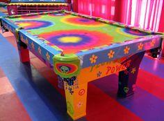 Living Color--tie dye pool table