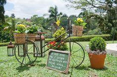 Bicicleta decorada - Casamento