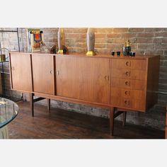 danish antique furniture | Danish Modern Teak Credenza vintage, brown, vintage furniture