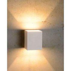 Lucide wandlamp Xera vierkant - wit Leen Bakker ook zwart