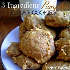 3 Ingredient Pumpkin Sugar Cookies - Preschool Activities and Printables