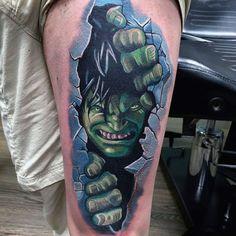 100 Incredible Hulk Tattoos For Men – Gallant Green Design Ideas – Octopus Tattoo Rose Tattoos For Men, Back Tattoos For Guys, Cool Arm Tattoos, 3d Tattoos, Skull Tattoos, Tiger Tattoo Sleeve, Sleeve Tattoos, Realistic Butterfly Tattoo, Hulk Tattoo