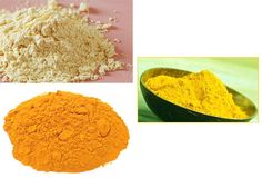 Graham flour face mask to lighten skin Take 2 spoons of gram floor, add a pinch of turmeric powder in it. Add milk and make paste. If you have oily skin, add a few drops of lemon juice also. Apply this on your clean face and neck, leave for 15-20 minutes. When dried, scrub and wash it off.