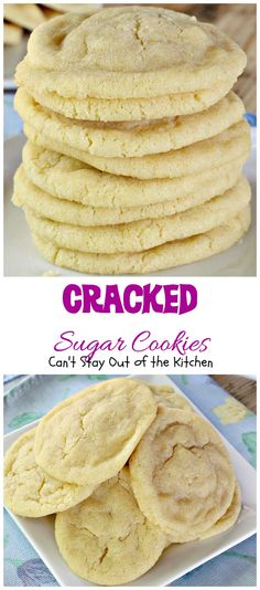 Cracked Sugar Cookies Can't Stay Out of the Kitchen most outrageous ever! These are amazing. Yummy Treats, Delicious Desserts, Sweet Treats, Yummy Food, Delicious Dishes, Yummy Yummy, Chewy Sugar Cookies, Sugar Cookies Recipe, Homeade Sugar Cookies