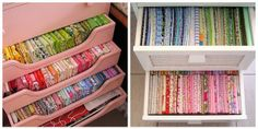 The Art of Choosing: Stash Storage by jenib320, via Flickr -Great Color sorting tips at incolororder.blogspot