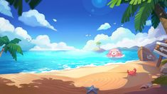 Game Design, Layout Design, Beach Games, Environment Design, Mobile Game, Landscape, Outdoor Decor, Landscape Paintings, Scenery