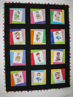fun quilt from Quilt Rhapsody  love the prairie point border
