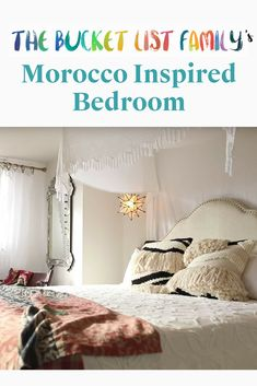 Traveling Home Episode A Morocco Inspired Bedroom - Vivint Smart Home In the second episode of Traveling Home, the Bucket List Family spent time in Morocco and shared inspiration to include in the master bedroom of their Hawaiian home. Bed Furniture, Cheap Furniture, Rustic Furniture, Smart Home Design, Hawaiian Homes, Bucket List Family, Decoration, Morocco, Master Bedroom