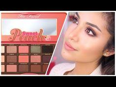 Too Faced Sweet Peach Palette Eye Makeup Tutorial - YouTube