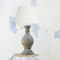 Garim Table Lamp || New for SS17, this wooden table lamp is handcarved with love in India and will look perfect on your side board for a cosy evening in. The neutral colours and smooth design will complement a light and airy room perfectly. Add a white or natural linen lampshade to complete the look.