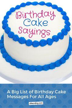 Ideas on what to write on a birthday cake
