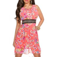Letné šaty s kvietkovaným vzorom ružové | OblecTo.sk