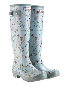 Thistle Wellies, Scottish charm http://www.uttings.co.uk/p100660-hunter-wellies-rhs-original-thistle-and-forget-me-not-w23605-the/ Gardening/Muck Boots