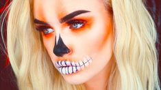 PUMPKIN GIRL | #ASHTOBERFEST HALLOWEEN MAKEUP TUTORIAL - YouTube Professional Halloween Makeup, Cute Halloween Makeup, Halloween Make Up, Halloween Ideas, Halloween 2017, Halloween Crafts, Comic Makeup, Pumpkin Costume, Makeup Tutorials Youtube