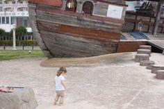 Araha Beach, Okinawa Japan. Got to love the Pirate Ship.
