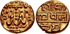 POST-ANCIENT & MEDIEVAL INDIA, Medieval (Southern Deccan). Alupas. Uncertain ruler. 14th century. AV Pagoda (15mm, 3.59 g, 10h). Chattopadhyaya Type II. Uncertain (Udupi[?]) mint. My coll.