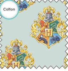 Harry Potter Water Colour Crest Cotton Fabric Sew Over It Patterns, New Look Patterns, Simplicity Patterns, Sewing Patterns, Fleece Fabric, Cotton Fabric, Harry Potter Fabric, Christmas Fabric Crafts, Tilly And The Buttons