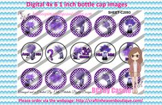 1' Bottle caps (4x6) Digital purple minions C2093   PLEASE VISIT http://craftinheavenboutique.com/AND USE COUPON CODE thankyou25 FOR 25% OFF YOUR FIRST ORDER OVER $10! #bottlecap #BCI #shrinkydinkimages #bowcenters #hairbows #bowmaking #ironon #printables #printyourself #digitaltransfer #doityourself #transfer #ribbongraphics #ribbon #shirtprint #tshirt #digitalart #diy #digital #graphicdesign please purchase via link http://craftinheavenboutique.com