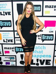 Khloe Kardashian showed off her slim figure in a little black dress at Bravo's Watch What Happens Live on Tuesday, May 28.