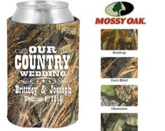 Mossy Oak Wedding Koozie (Clipart 1393) Out Country Wedding - Personalized Koozies - Camo Koozies - Wedding Favor Koozies - Camo Coozie