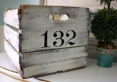 Timeworn re-finished farmhouse wood crate