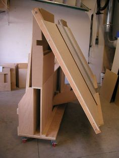 Combo Panel Saw and Lumber Cart